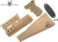 King Arms  AK74 Railed handguard / Grip / Stock - Tan