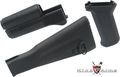 King Arms AK74M Handguard / Grip/ Stock -BK