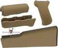 King Arms AK47 Handguard / Grip / Stock - Tan