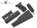 King Arms AK47 Railed handguard / Grip / Stock - BK