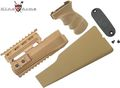 King Arms AK47 Railed handguard / Grip / Stock - TAN