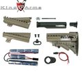 King Arms  Carbine MOD Stock - DE w/ 1400mAh-12V Battery