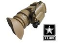 U.S. Army PVS-14 Style 3x Magnifier set with Red Laser (TAN)