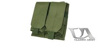 Classic Army M4/M16 Single Magazine Pouch x2 (OD Green)