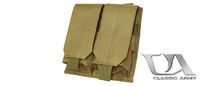 Classic Army M4/M16 Single Magazine Pouch x2 (Khakis)
