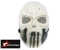 eAiming Skeleton ARMY OF TWO Plastic Full Face Mask (WH/BK)