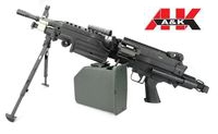 A&K FN M249 PARA Extendable Stock SAW Light Machine Gun AEG