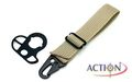 ACTION Sling Adaptor With Three Hole Type (Tan)