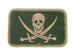 EAIMING Pirate Skeleton Embroidery Velcro Patch