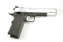 WELL Metal Frame M1911 GBB HandGun Pistol (Sliver Slide)