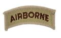 EAIMING U.S. Air Borne (Embroidery/Sticker) -Tan