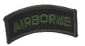EAIMING U.S. Air Borne (Embroidery/Sticker) -Olive Drab/Black