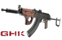 GHK Full Metal / Real Wood AKMSU Gas Blow Back Airsoft Gun