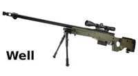 WELL Metal L96 AWF Stock & Scope Sniper GAS Rifle (G96D;OD)