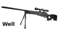 WELL ABS L96 MB-01C 3-9x40 Scope Bolt Action Sniper Rifle (BK)