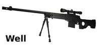 WELL Metal L96 AWF Stock & Scope Sniper GAS Rifle (G96D;BK)