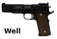 Well S&W M945 Fish Scale Full Metal GBB Pistol (Black)