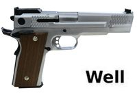 Well M945 Fish Scale Full Metal GBB Pistol (Silver) Without Mark
