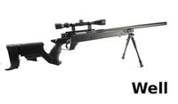 WELL MB04D L96 Sniper Stock Spring Rifle w/ Bipod & Scope (BK)