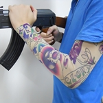 Noxious Rose Pattern Fake Tattoo Arm Warmer Sleeves