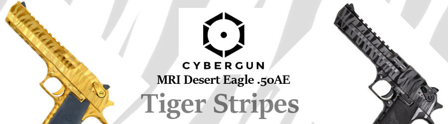 Cybergun MRI Desert Eagle .50AE tiger Stripes GBB pistol BLOCK SV GOLD
