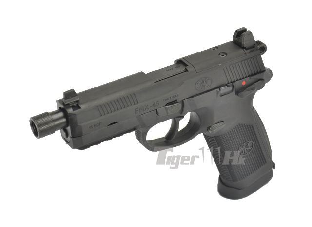 Cybergun Metal Slide Fnx 45 Tactical Gbb Pistol Black Airsoft Tiger111hk Area
