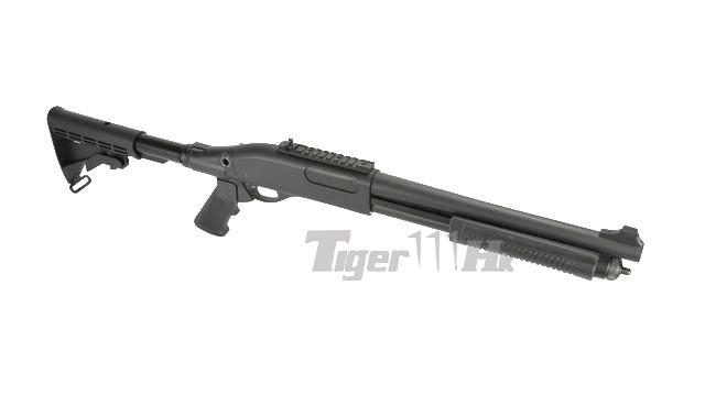 golden eagle m870 gas pump action shotgun with a2 style grip