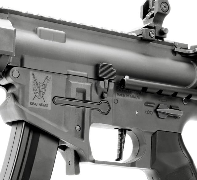 King Arms PDW 9mm SBR Long AEG Rifle (Metal Grey) Airsoft