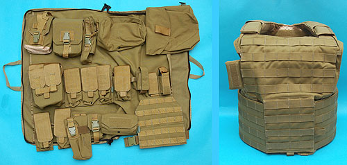 G&P Tactical Body Vest with Pouch For M14 Series (Sand)