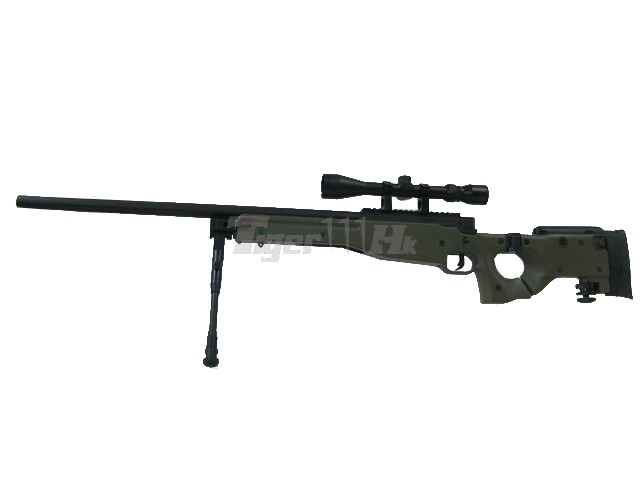 WELL MB08D AW .338 Sniper Rifle with Scope and Bipod (OD)