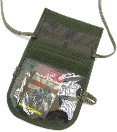 King Arms ID-Badge Neck Wallet with IFF Flag - DG
