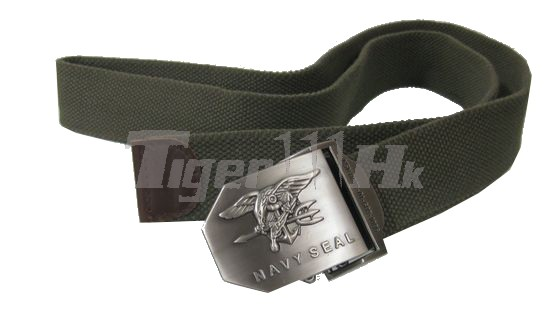 US IBH Navy SEAL Full Metal Buckle Natural linen Belt (OD)