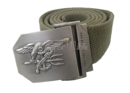 NOB US IBH Navy SEAL Full Metal Buckle Natural linen Belt (OD)