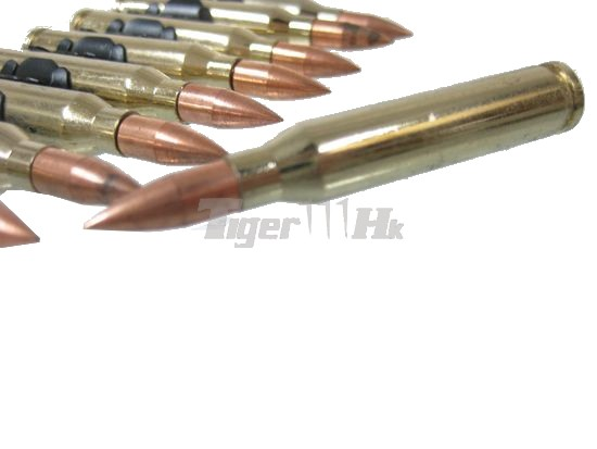 EAIMING M249 5.56 Cartridge Dummy Gold Bullet (12pc; Full Metal)