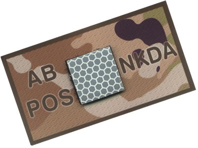 King Arms NKDA Blood Type Patch -AB