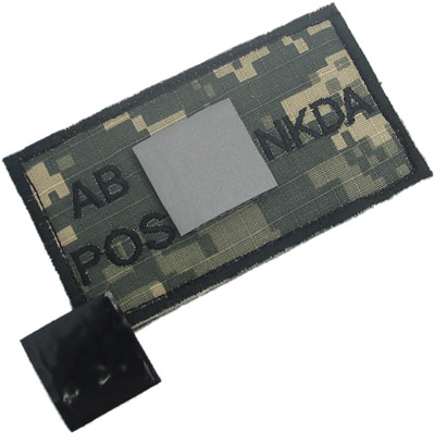 King Arms NDKA Blood Type Patch - ACU - AB