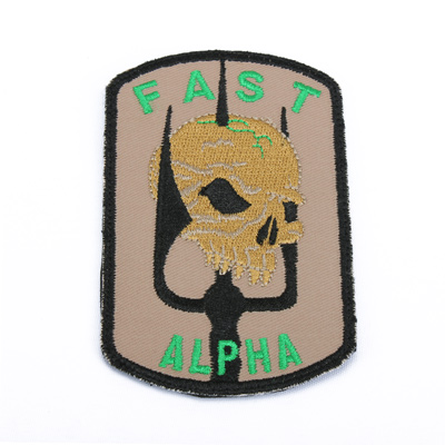 King Arms DEA Fast Team Emboridery Patch - TAN
