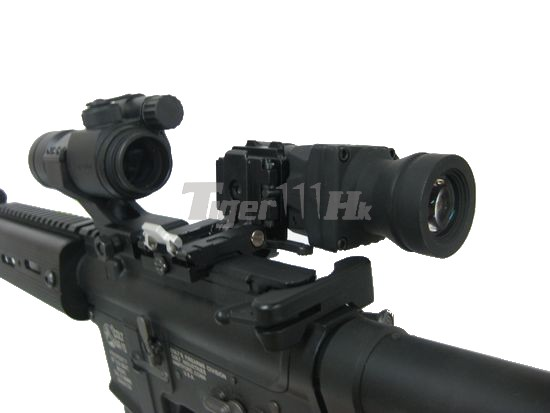 Eaiming 4X Magnifier Scope with QD Flip-to-Side Mount