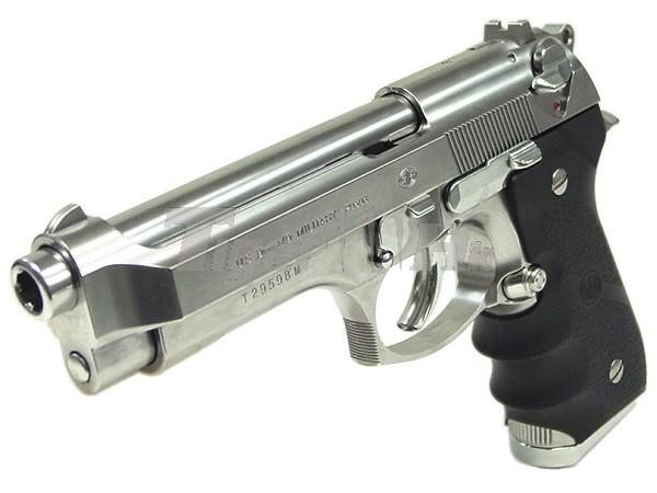 Tokyo Marui M92f Chrome Stainless Military Gbb Pistol