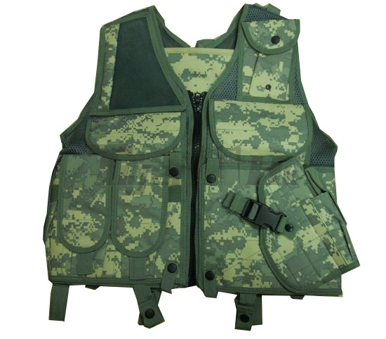 US ACU Assault Tactical Vest with Holster (ACU)