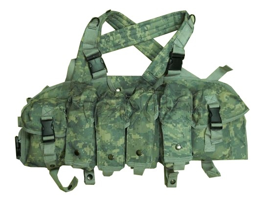 Tactical Chest Rig Magazine Carrier Vest - ACU