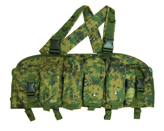 Russian Tactical Chest Rig Magazine Carrier Vest - BK