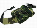 UK BDU Woodland Camouflage Duty Waist Bag - UKWC