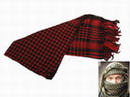 EAIMING Shemagh Arab Checker Scrim Scarf (Black & Red)