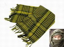 EAIMING Shemagh Arab Checker Scrim Scarf  Black & Yellow