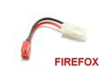 FireFox Battery Wire Plug Converter (Big Plug(M) to T-Shape Plug