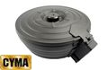 CYMA 2500rds Sheet Steel Electric Drum Magazine for AK AEG-BK
