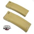 G&P 340rds TROY BattleMag Hi-Cap Magazine For M4 AEG (2pcs) -DE