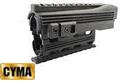 CYMA Lower and Upper Handguard 3+1 20mm Rail Set For AK74-BK