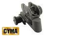 CYMA 20mm Railed Metal QD Rear Sight-BK